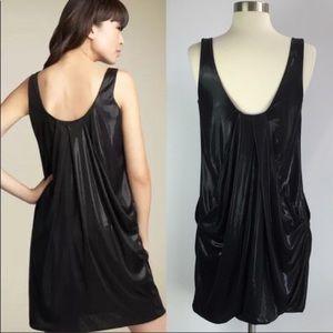 Dvf lesley black draped dress